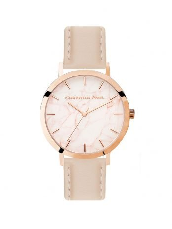 240 Marble – Rose Gold / Stitched Peach Leather / Pink Face