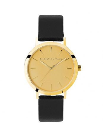 225 Capital – Gold / Black Leather / Gold Face