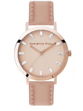 132 Luxe – Rose Gold / Stitched Nude Leather / Pink Face