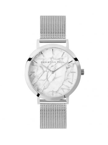 106 Marble – Silver / Silver Mesh / White Face