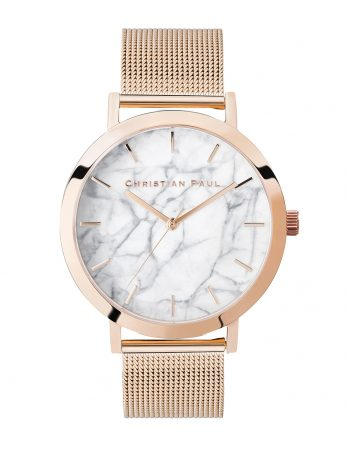 112 Marble – Rose Gold / Rose Gold Mesh / White Face