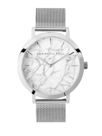 115 Marble – Silver / Silver Mesh / White Face