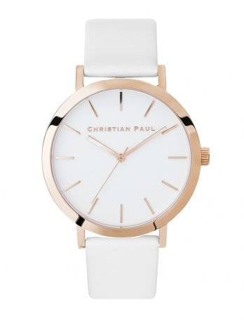 148 Raw – Rose Gold / White Leather / White Face /  Rose Gold Hands